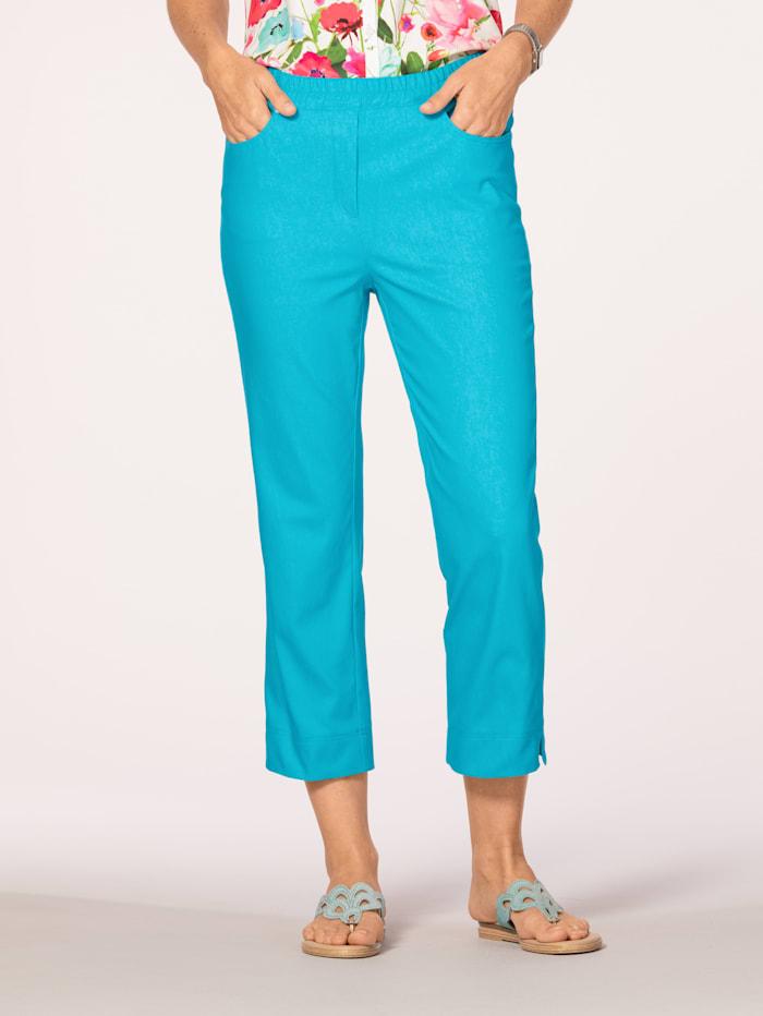 MONA Pantalon à ceinture extensible confortable, Turquoise