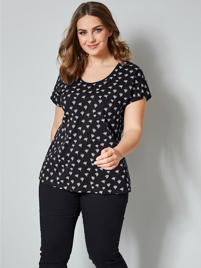 Janet & Joyce Shirt mit Allover-Print, schwarz-terra bedruckt