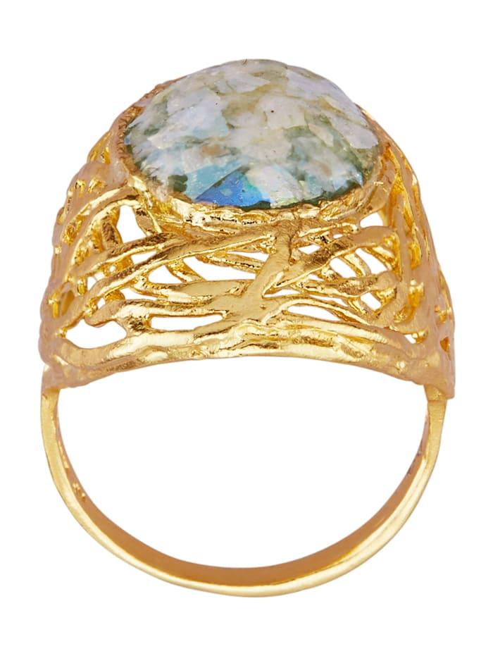Naisten lasikivisormus (roomalaista lasia)