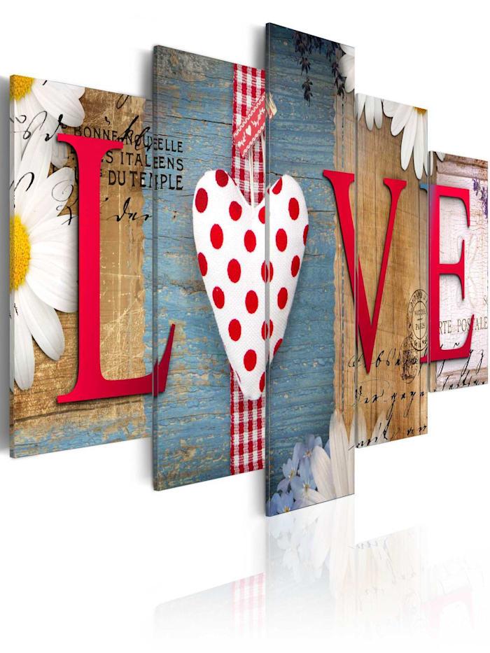 artgeist Wandbild LOVE - handmade, mehrfarbig
