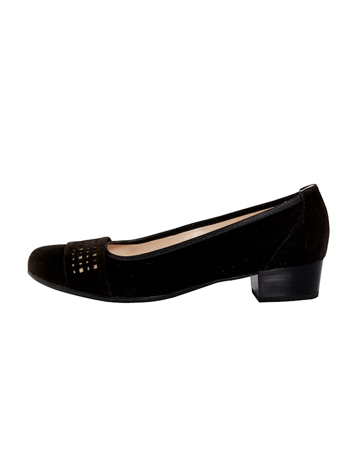 Court shoes with gold-tone detailing