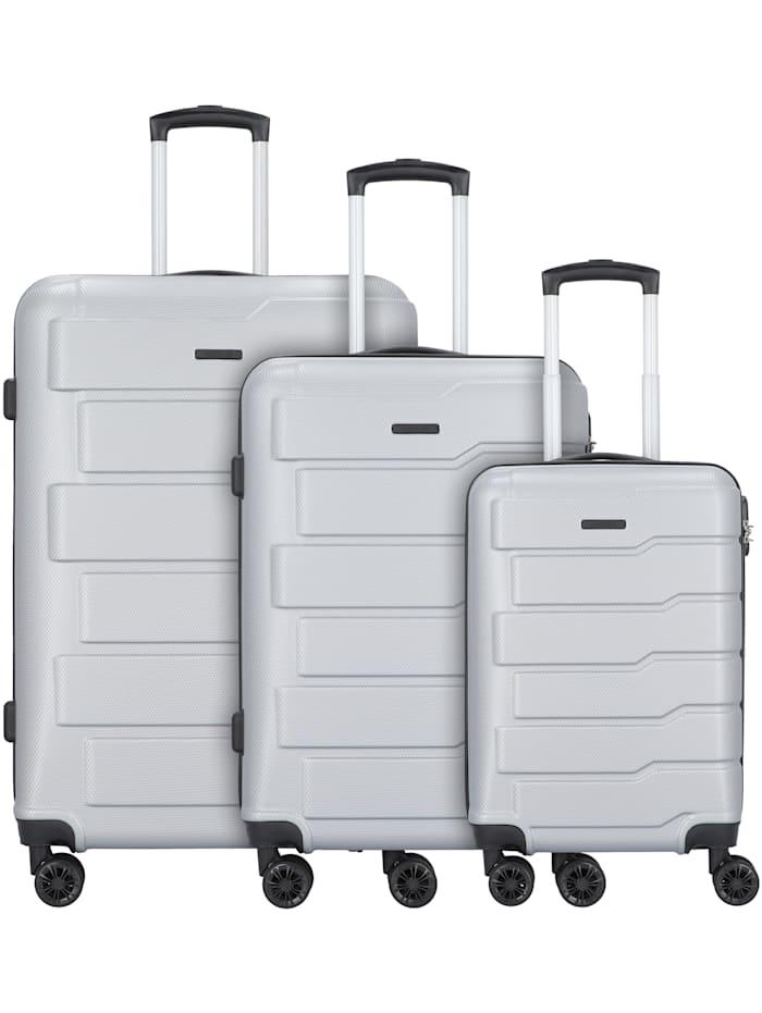 Grand Canaria 4-Rollen Kofferset 3tlg. mit Doppelrollen 3-teilig