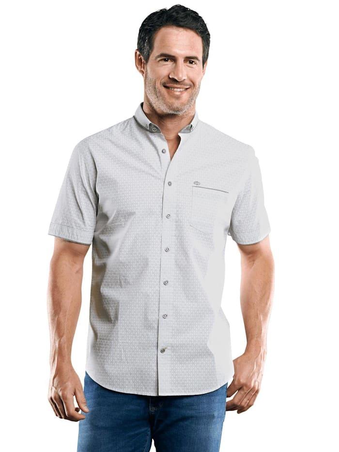 Engbers Dezent gemustertes Hemd, Silbergrau