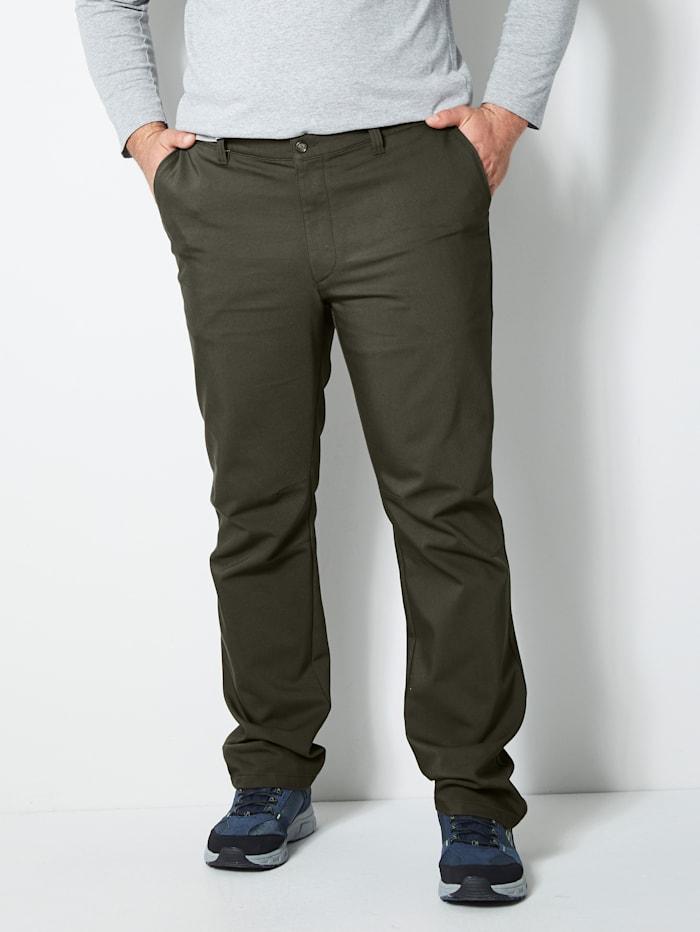 Men Plus Thermo-Active-Hose mit aufwändiger Innentaschenverarbeitung, Oliv
