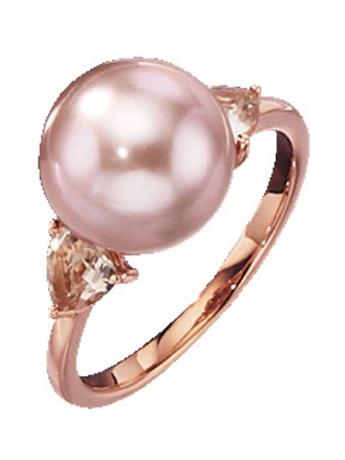 Amara Perles Bague avec perle de culture d'eau douce, Coloris or jaune