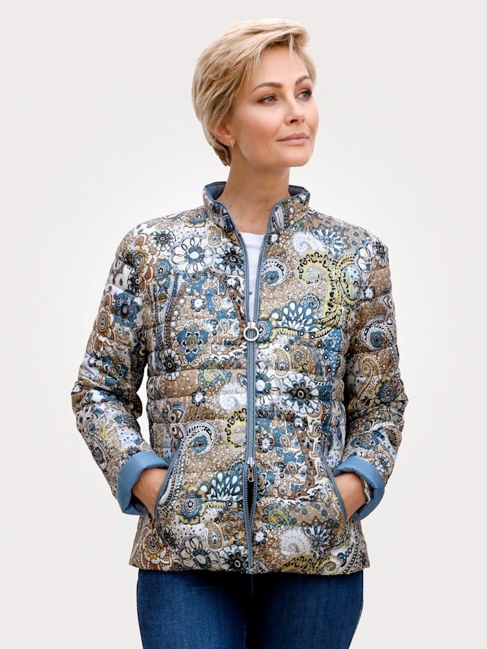 Barbara Lebek Oboustranná bunda, Modrá/Žlutá
