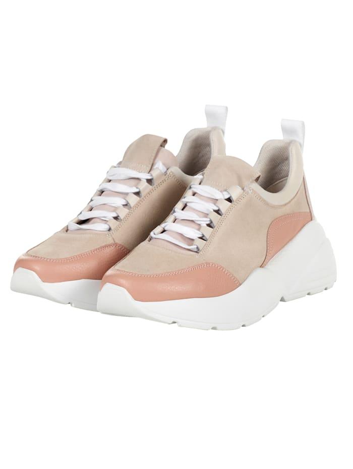 REKEN MAAR Sneaker im Materialmix, Rosé