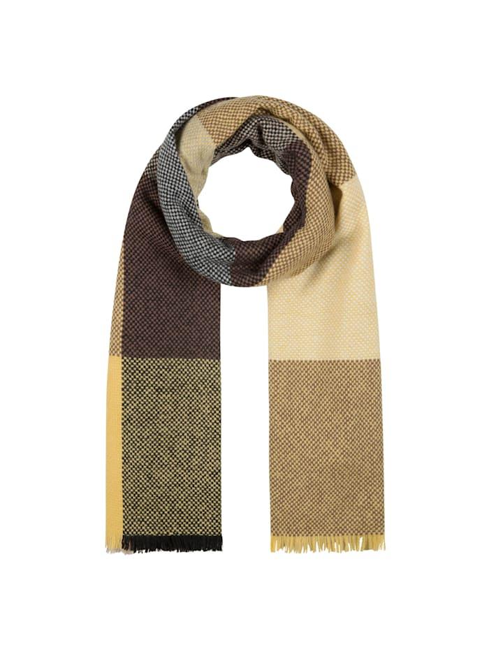 Codello Premium Karo-Schal aus edler Wolle, dark brown