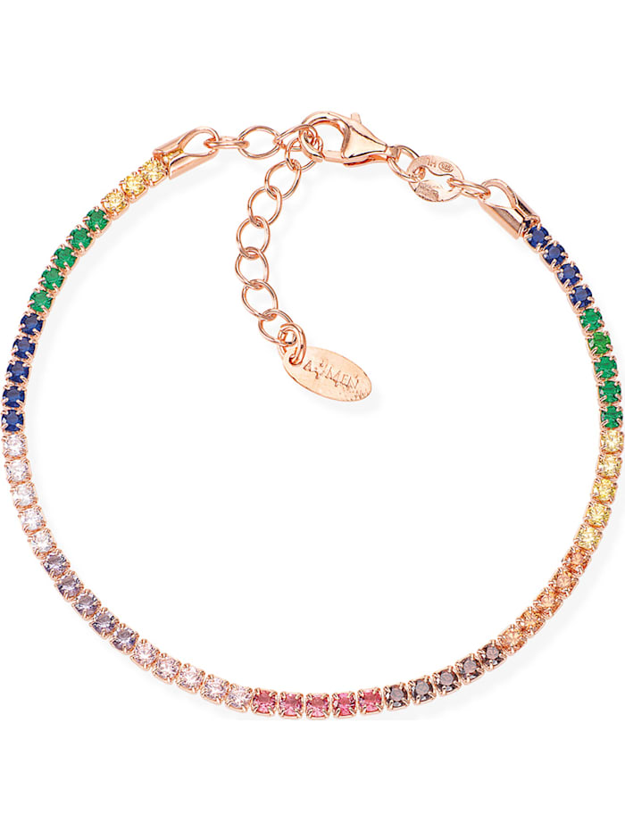 Amen Amen Damen-Armband 925er Silber 58 Zirkonia, mehrfarbig