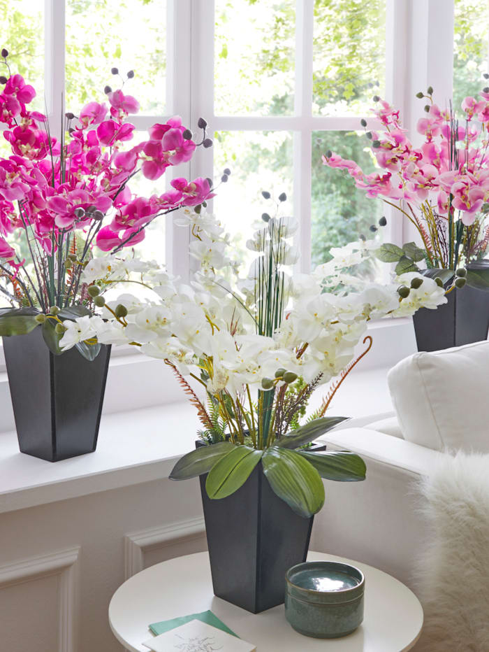 IGEA Orchidee im Topf, Weiß