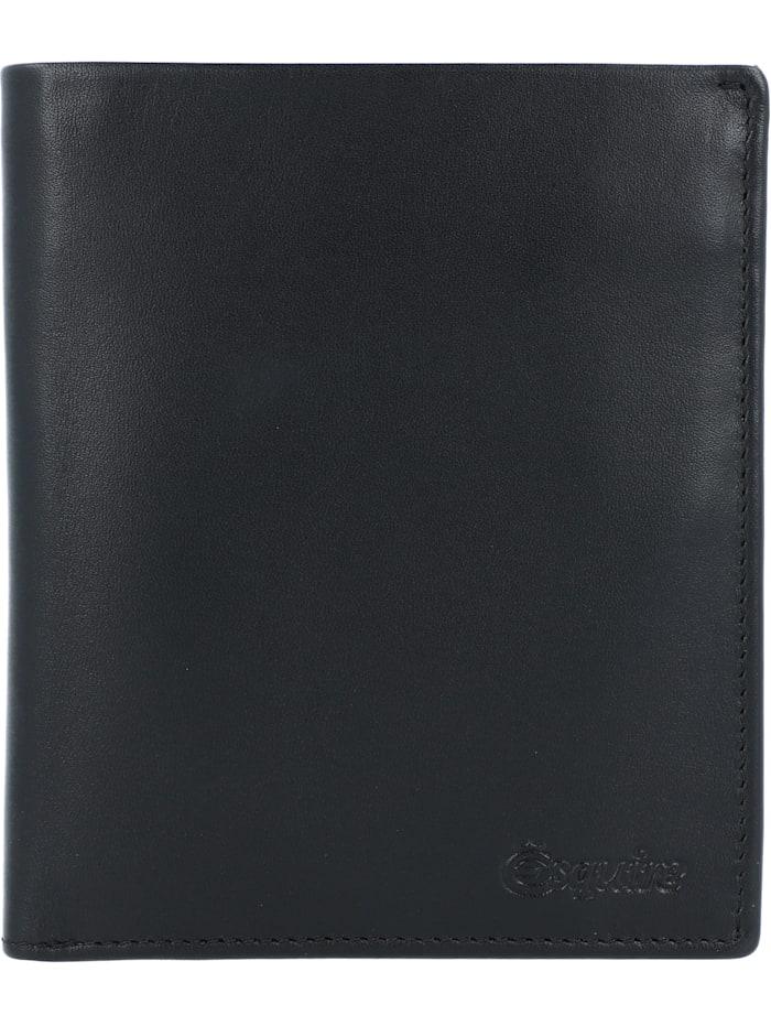 Esquire New Silk Geldbörse Leder 10 cm, schwarz