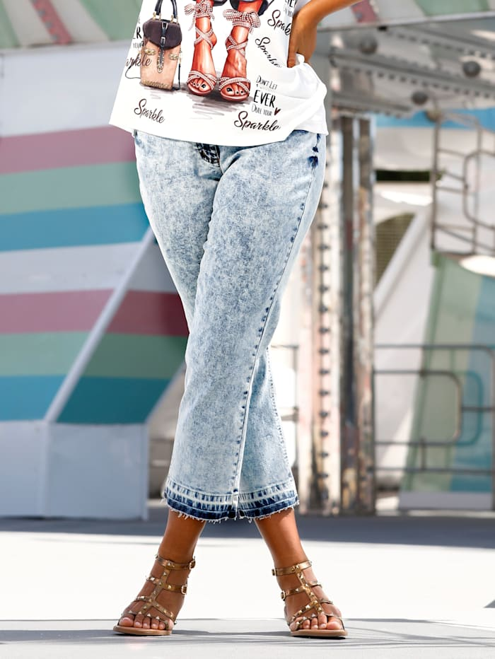 Jeans in washed look