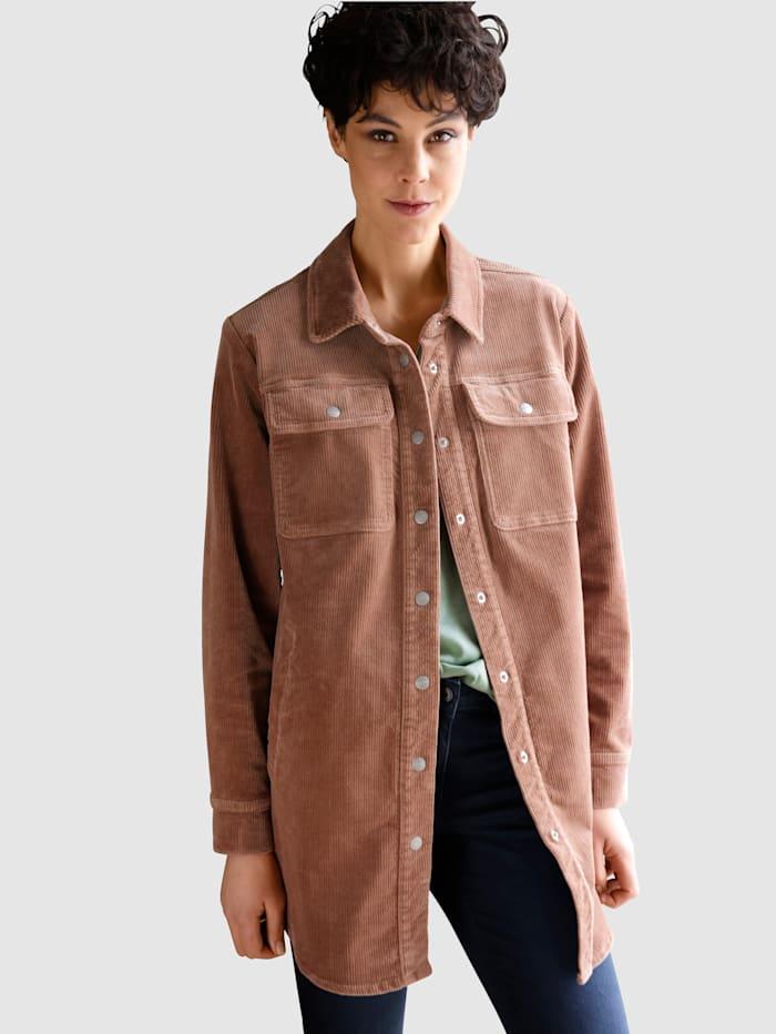 Dress In Jacke aus Cord, Braun