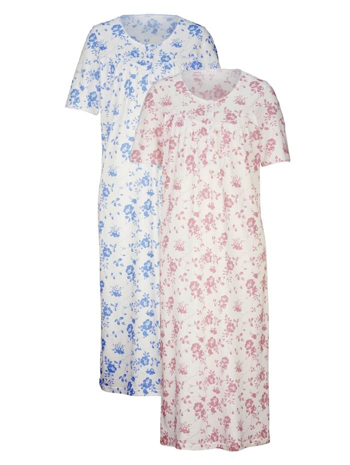 Nachthemd mit hübschen Spitzendetails 2er Pack
