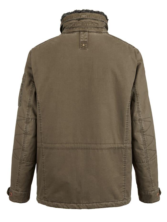 Jacke in ausgewaschenem Used-Look