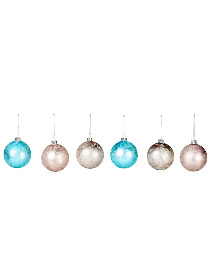 IMPRESSIONEN living Lot de 6 boules de Noël, multicolore