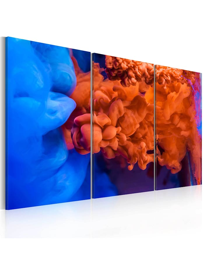 artgeist Wandbild Wasser vs Feuer, Blau,Rot