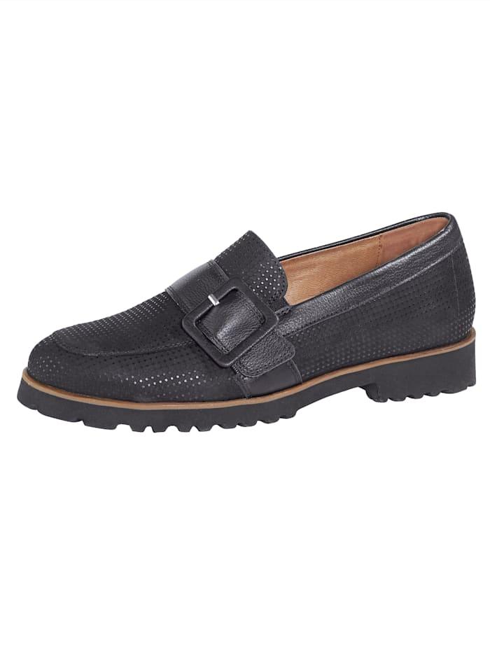 Waldläufer Loafers, Black
