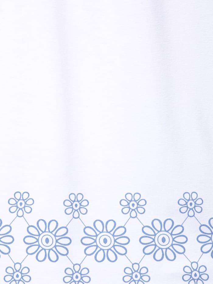 Jerseytunika mit Blumendruck