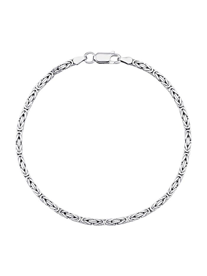 Königsarmband in Silber 925, Silberfarben