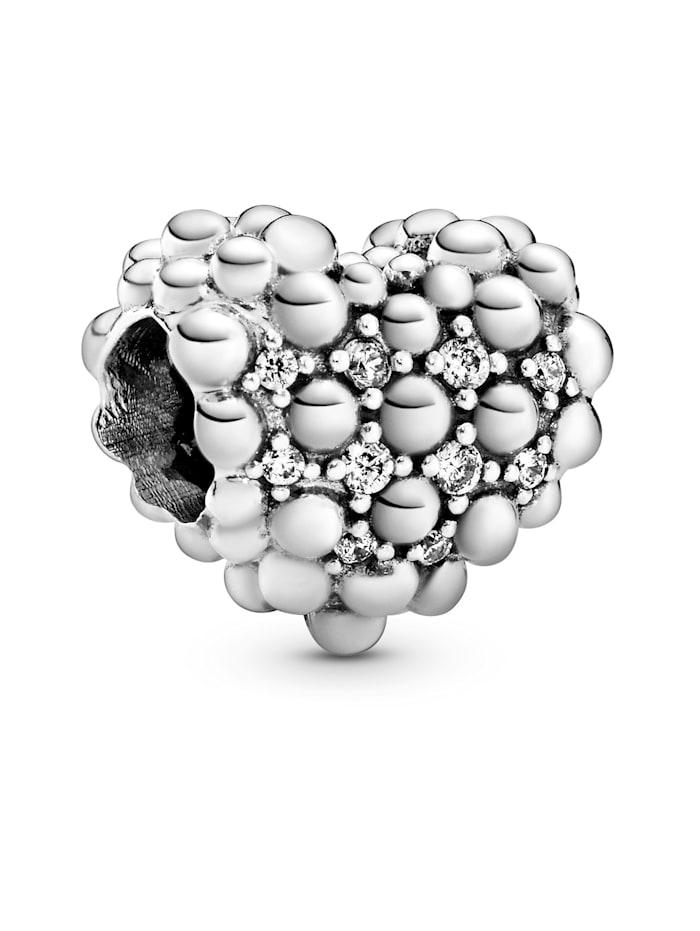 Pandora Charm - Funkelndes Metallperlen-Herz - 798681C01, Silberfarben