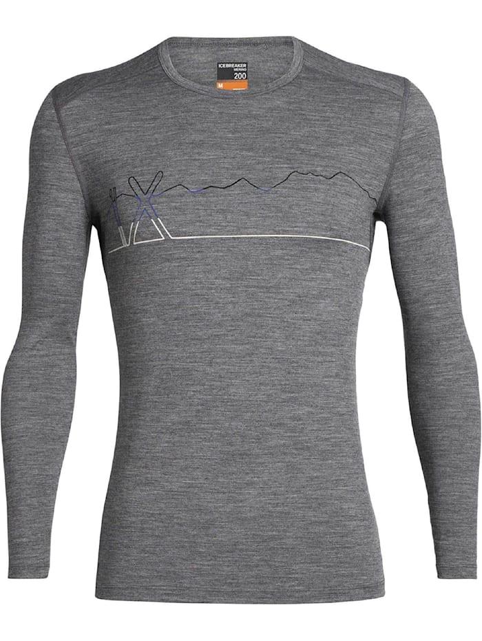 Icebreaker Icebreaker Shirt 200 Oasis LS Crewe Single Li, Grau