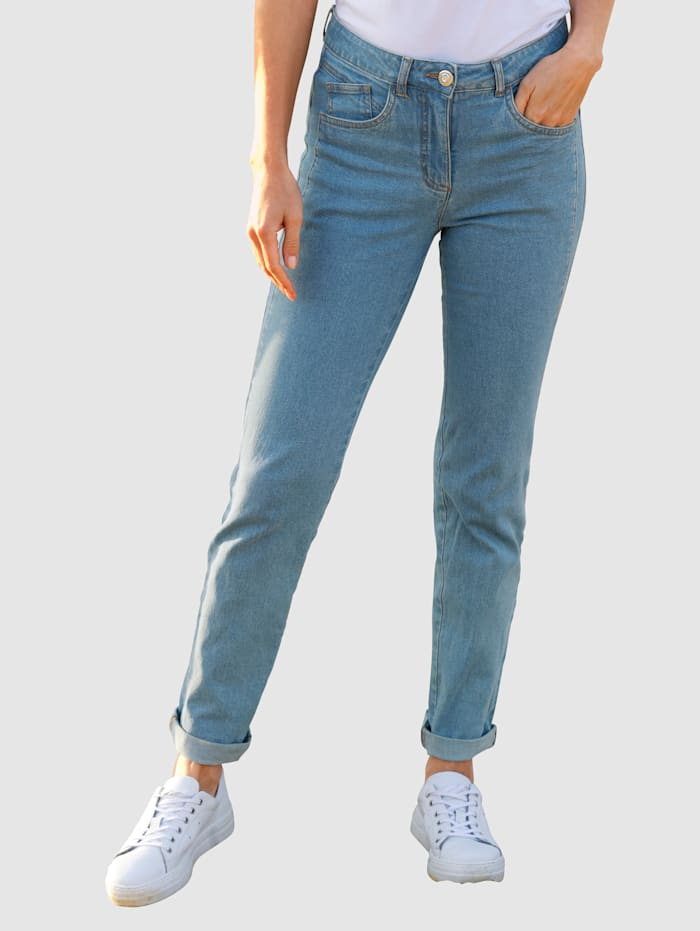 basically you Jeans Sabine Slim, Blue bleached