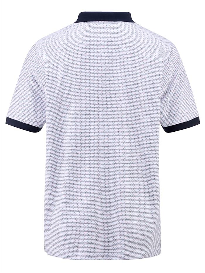 Poloshirt mit grafischem Druckdessin rundum