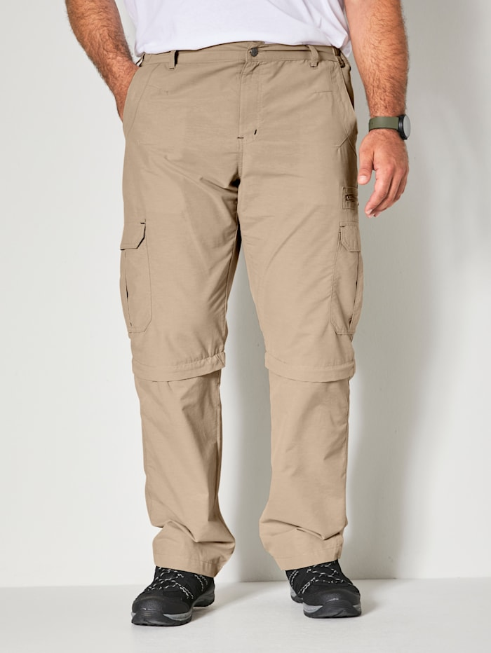 Men Plus Hose Zipp-Off, Beige