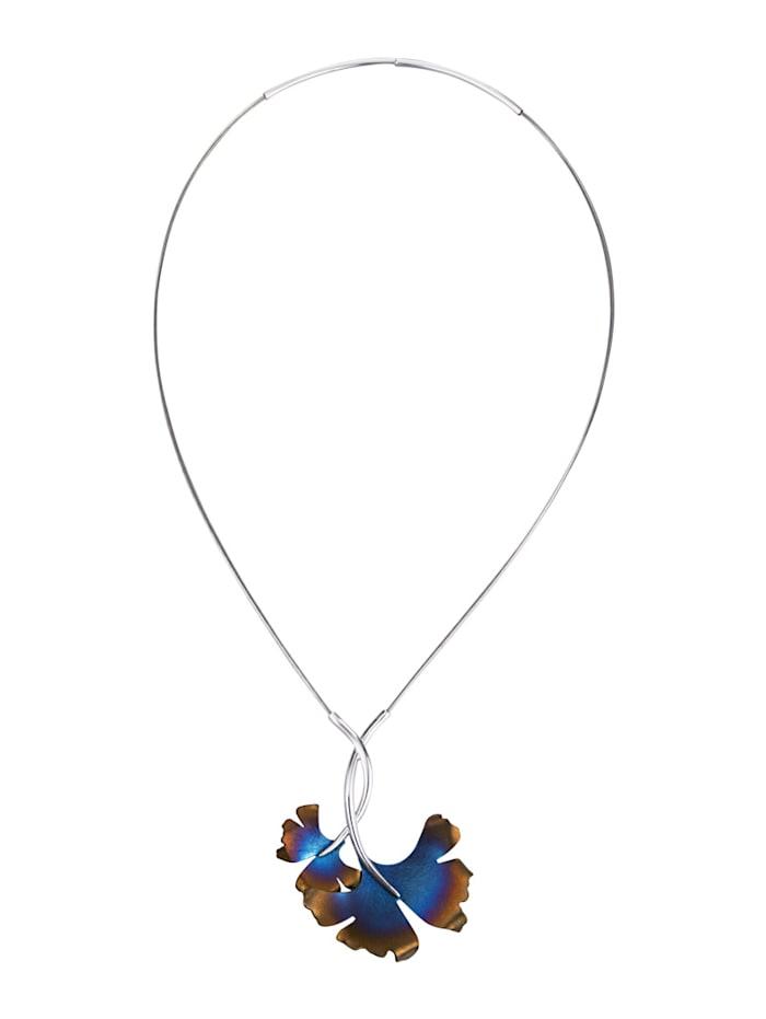 Diemer Silber Collier Gingko Ginkgoblad, Multicolor