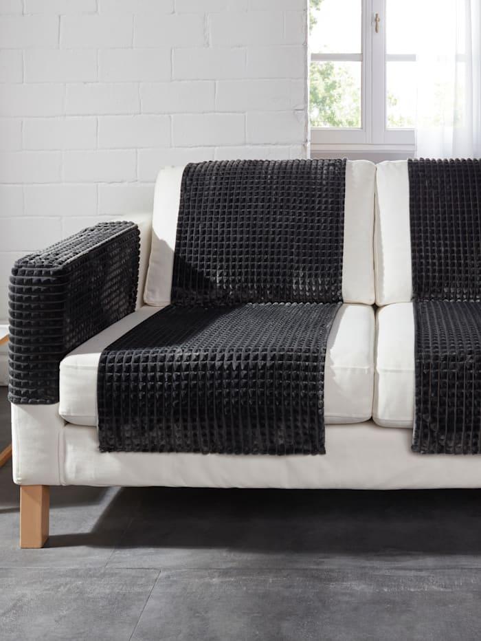 Webschatz Ligne de protège-canapé et fauteuil, Gris