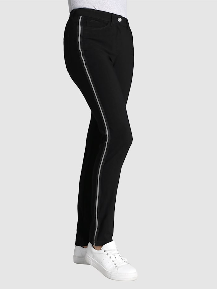 Dress In Pantalon de coupe Laura Slim, Noir