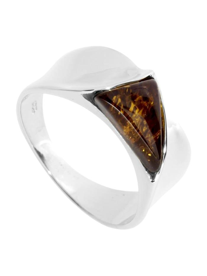 OSTSEE-SCHMUCK Ring - Alisca - Silber 925/000 - Bernstein, silber