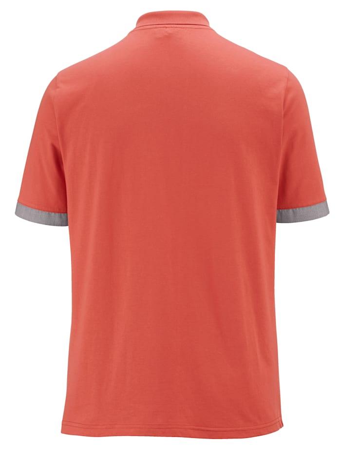 Poloskjorte med kontrastdetaljer