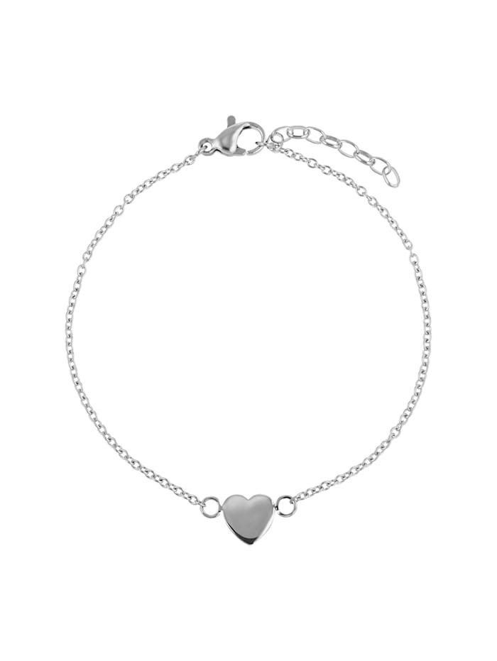 ZEEme Armband Edelstahl 17+3cm Glänzend, grau