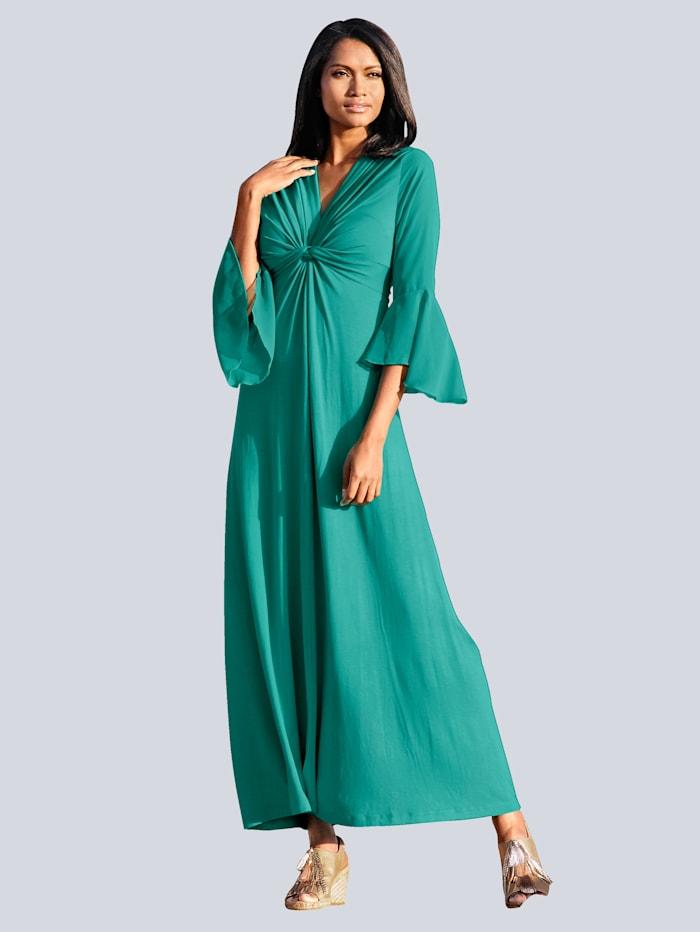 Alba Moda Strandkleid mit Chiffonärmeln, Grün