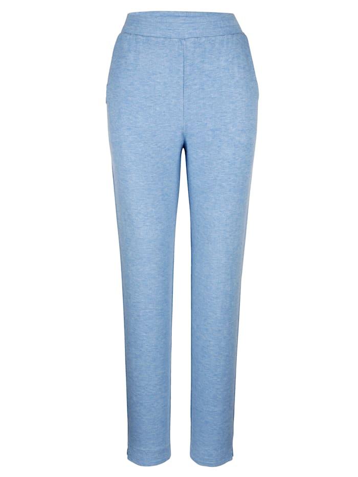 Blue Moon Pantalon de loisirs avec ornement de rivets fantaisie, Bleu