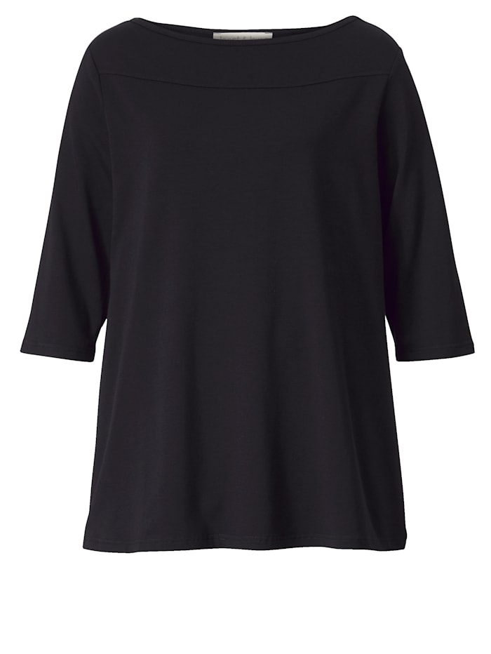 Shirt met gladde ronde hals