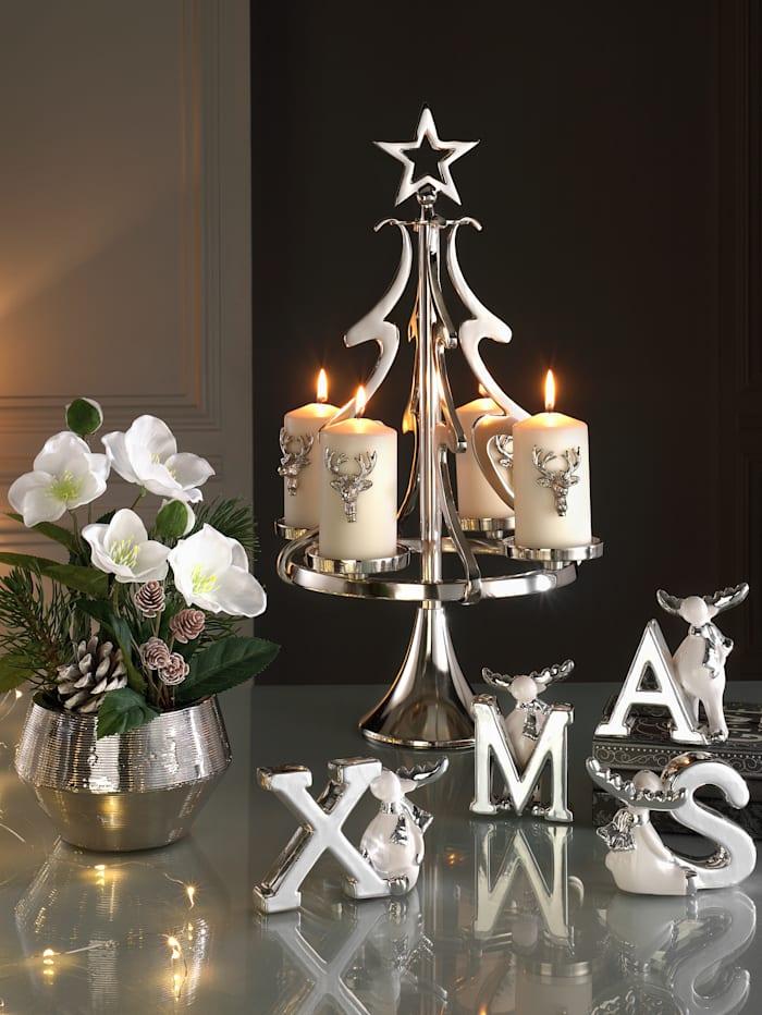 Weihnachtsdeko XMAS, Silber