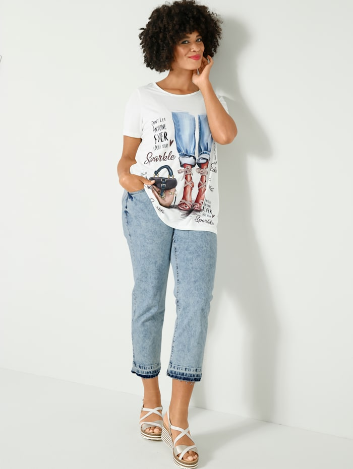 Angel of Style Jeans in washed look, Lichtblauw