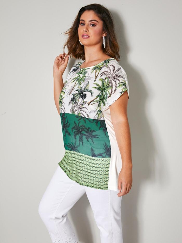 Shirt met palmendessin
