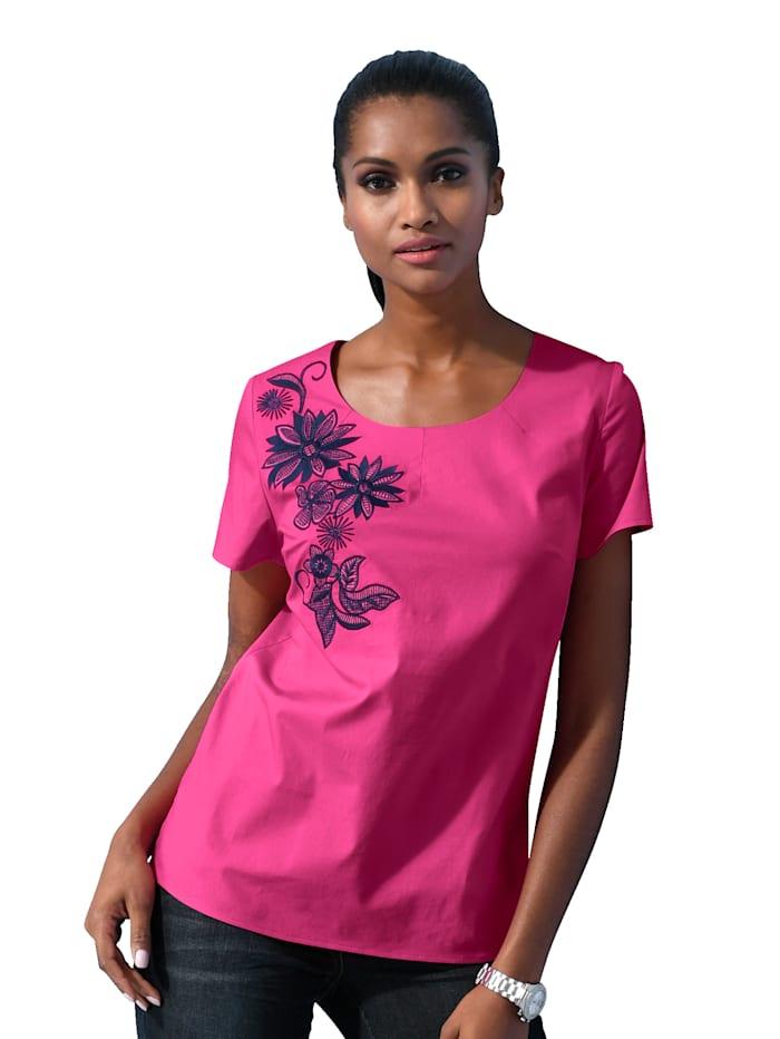 Shirt met bloemenborduursel