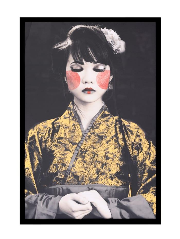 IMPRESSIONEN living Bild, Geisha, multicolor