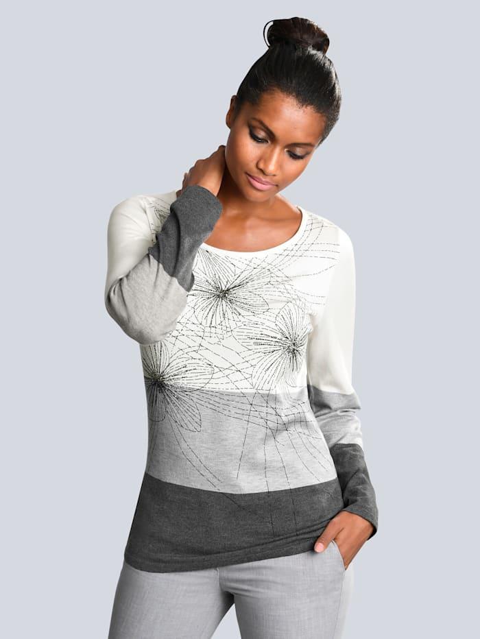 Pullover mit dezenten Floral-Dessin