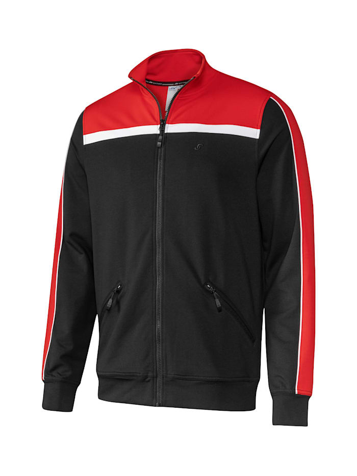 JOY sportswear Sportjacke HENRIK, black/red pepper