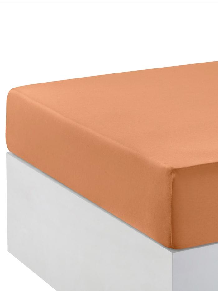 Webschatz Boxspring-Spannbettlaken, Terracotta