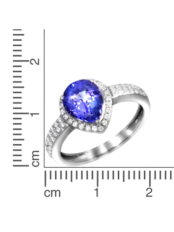 Ring 750/- Gold Tansanit blau Tansanit Glänzend 1,70ct. 750/- Gold