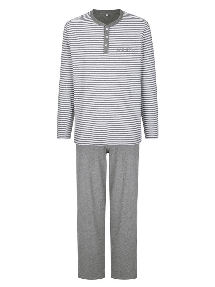 BABISTA Pyjama, Lichtgrijs/Wit