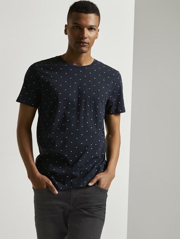 Tom Tailor Denim Print T-Shirtaus Organic Cotton, navy small element print