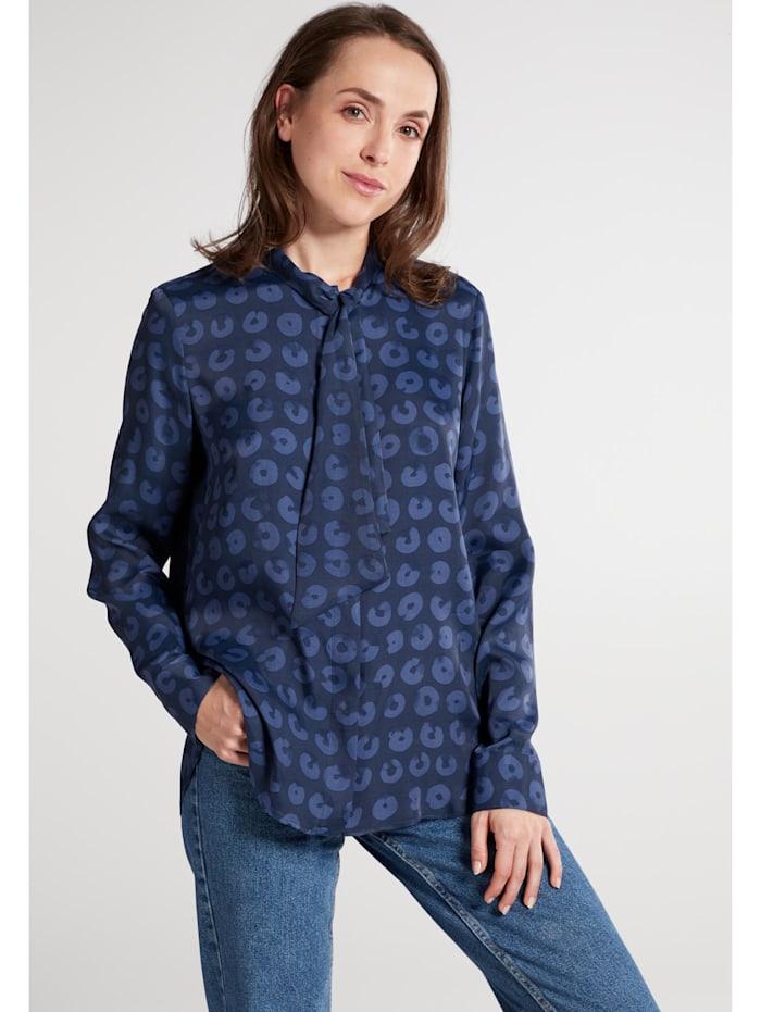 Eterna Eterna Langarm Bluse MODERN CLASSIC, blau